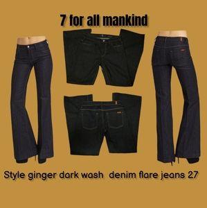 7 for all mankind ginger dark wash jeans 27